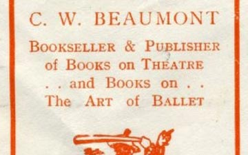 Close up of book plate. © Dance Books