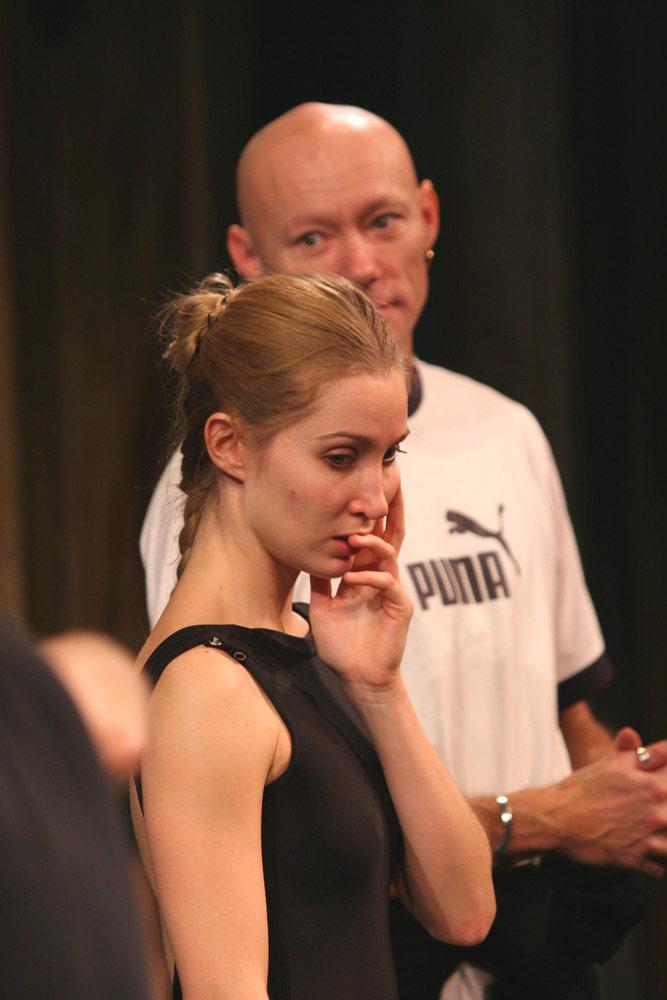 <I>Napoli</I> rehearsal: Gudrun Bojesen and Mogens Boesen.<br />© Rene Erik Olsen. (Click image for larger version)