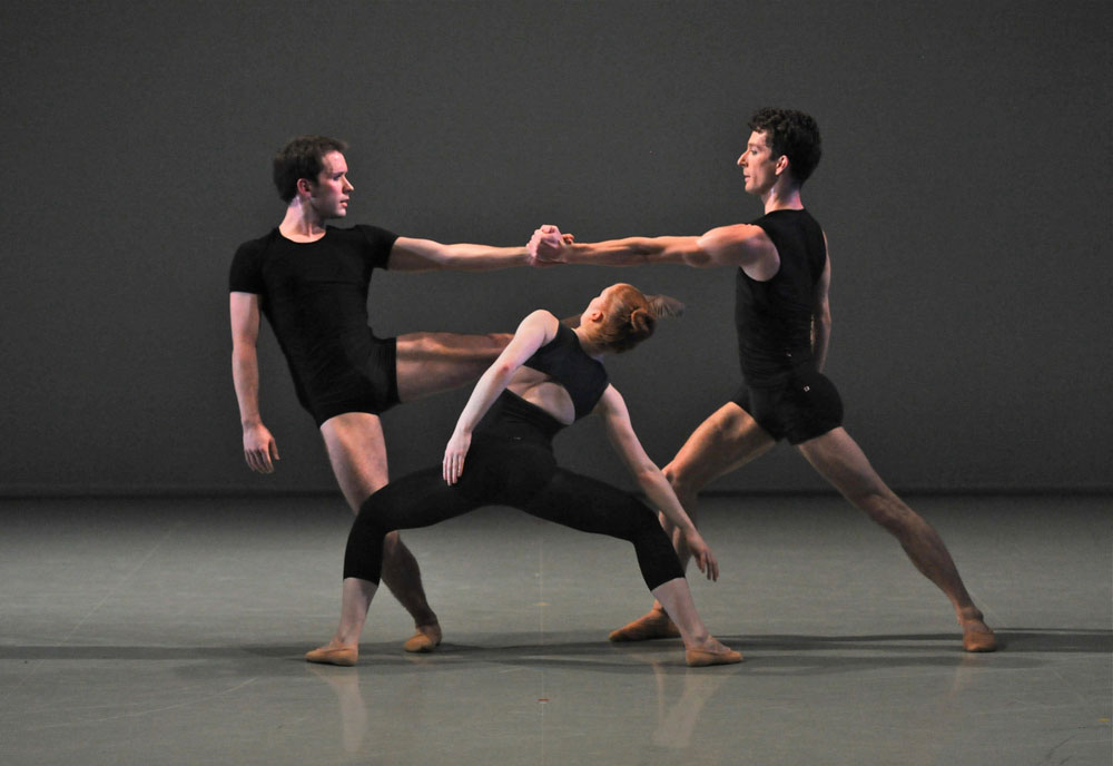 Benjamin Mitchell, Tobias Batley and Victoria Sibson in Project # 1.  © Brian Slater.