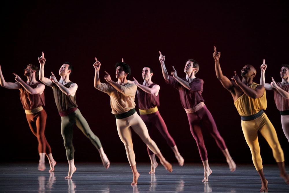 Mark Morris Dance Group in L'Allegro, Il Penseroso ed Il Moderato. © Elaine Mayson.