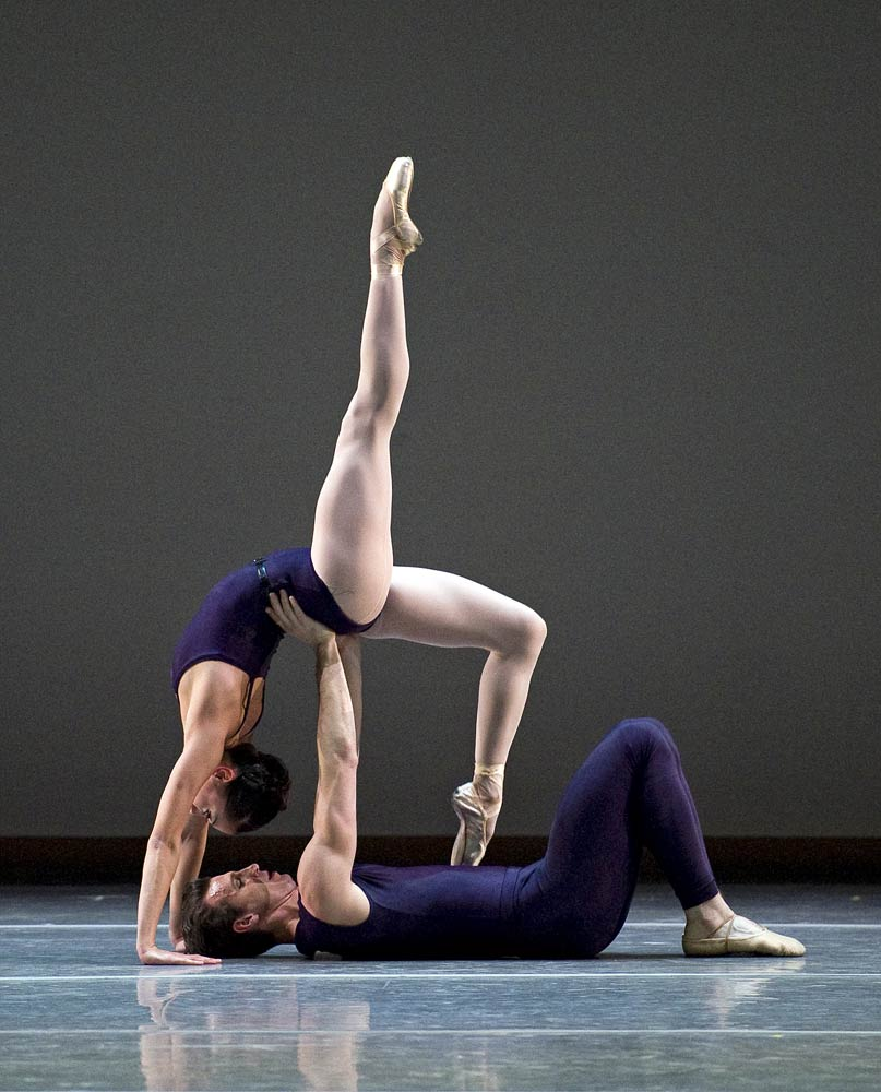 Lia Cirio and Sabi Varga in Christopher Wheeldon's Polyphonia. © Gene Schiavone.