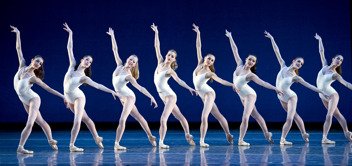 Boston Ballet in George Balanchine's Symphony in Three Movements © The George Balanchine Trust. Photo © Gene Schiavone.