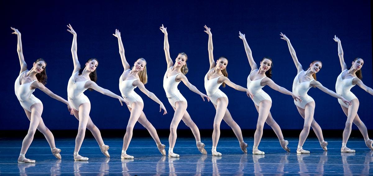 Boston Ballet in George Balanchine's Symphony in Three Movements © The George Balanchine Trust. Photo © Gene Schiavone.