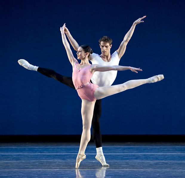 Kathleen Breen Combes and James Whiteside in George Balanchine's Symphony in Three Movements © The George Balanchine Trust. Photo © Gene Schiavone