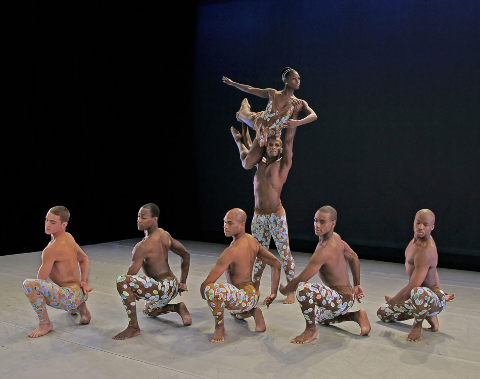 Company members of Alvin Ailey American Dance Theater perform Arden Court. © Andrew Eccles. (Click image for larger version)