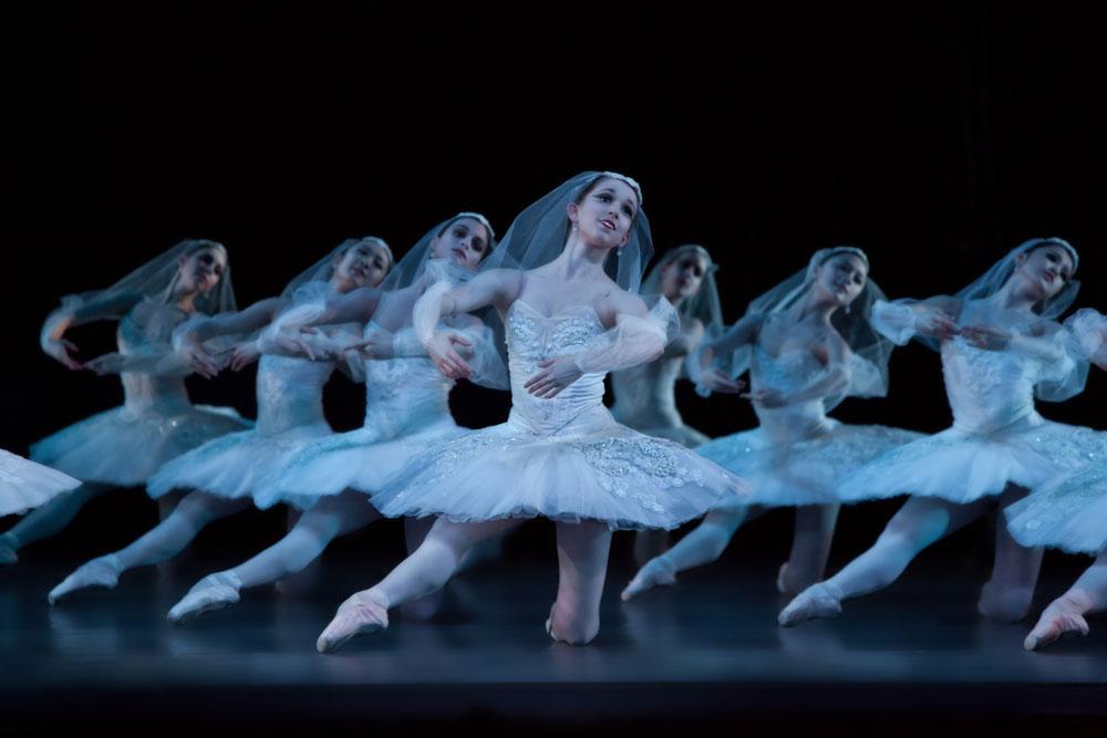 Artists of Houston Ballet in Stanton Welch's La Bayadere. © Amitava Sarkar. (Click image for larger version)