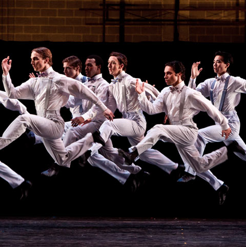 Artists of Houston Ballet in Stanton Welch's The Gentelmen. © Amitava Sarkar. (Click image for larger version)
