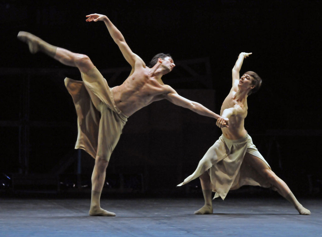 Raphael Coumes-Marquet and Jan Casier in Faun(e). © Dave Morgan. (Click image for larger version)