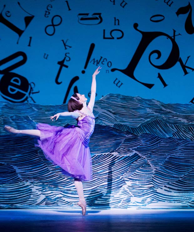 Lauren Cuthbertson in Alice's Adventures in Wonderland. © Johan Persson, courtesy ROH.