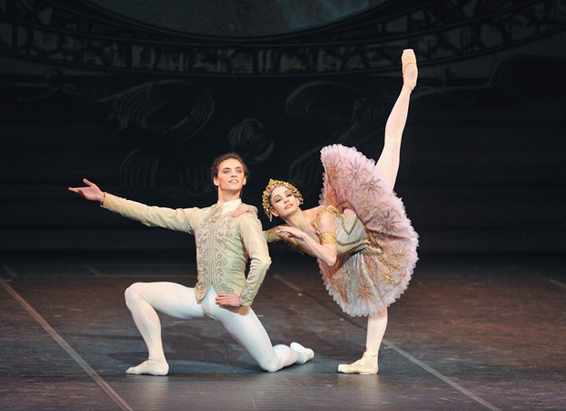 Tamara Rojo and Sergei Polunin in the last act pas de deux from Raymonda. © Marc Haegeman.