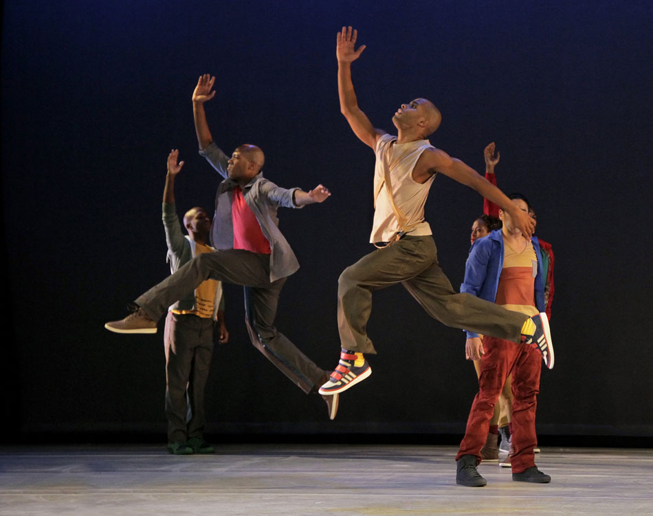 Company members of Alvin Ailey American Dance Theater perform Home. © Paul Kolnik. (Click image for larger version)