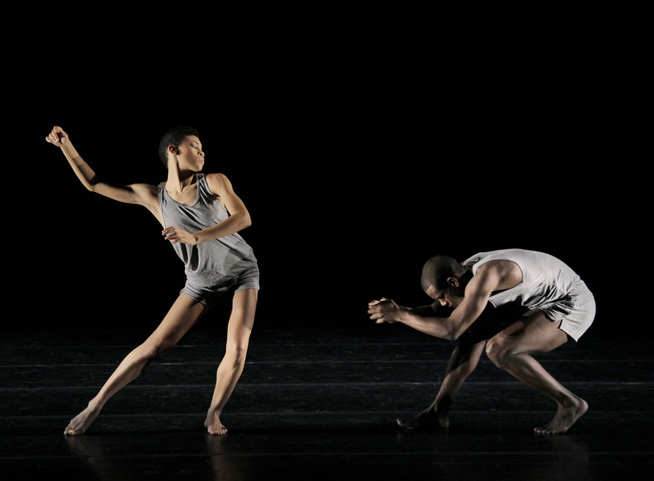 Ghrai DeVore and Kiven J Boyd in <I>Minus 16</I>. © Paul Kolnik. (Click image for larger version)