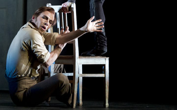 Johan Kobborg as Walter Sickert, Steven McRae as Jack in Liam Scarlett's Sweet Violets. © Bill Cooper, courtesy of ROH. (Click image for larger version)