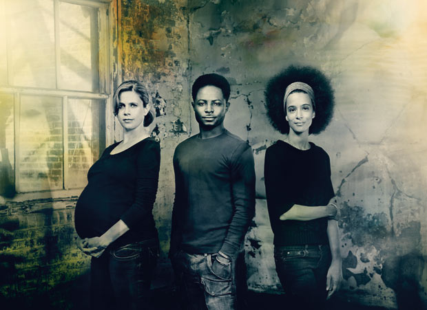 ROH2 Choreographic Associates Sarah Dowling, Freddie Opoku-Addaie and Laïla Diallo. © Pip. (Click image for larger version)
