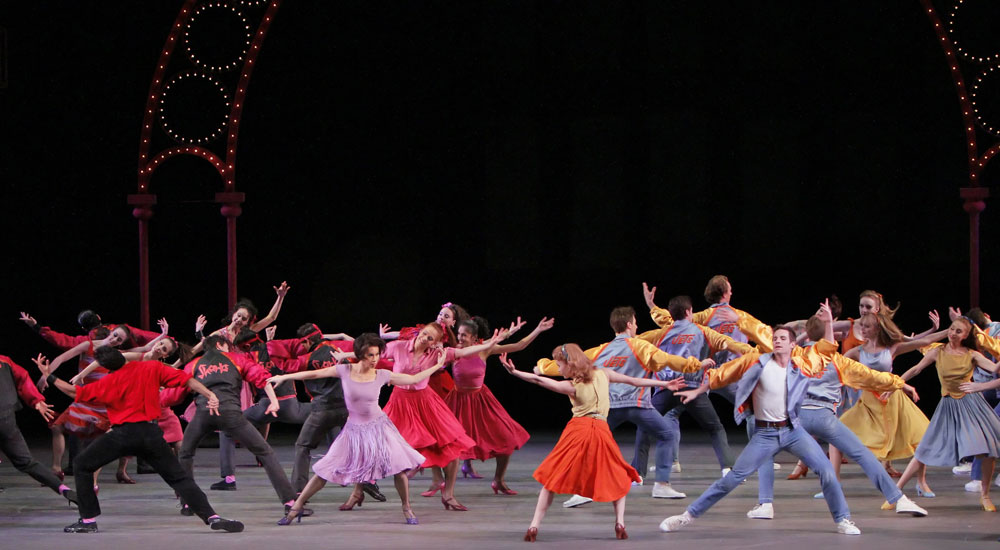 NYCB in Jerome Robbins' West Side Story Suite. © Paul Kolnik. (Click image for larger version)