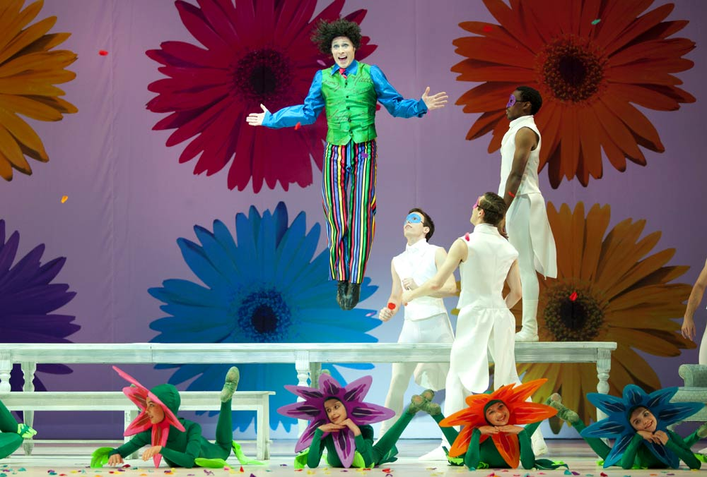 Jared Nelson (The Mad Hatter) in The Washington Ballet's Alice (in Wonderland). © Brianne Bland. (Click image for larger version)