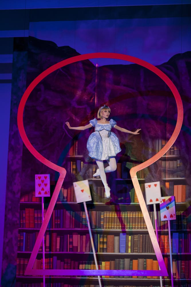 Maki Onuki (Alice) in The Washington Ballet's Alice (in Wonderland). © Brianne Bland. (Click image for larger version)