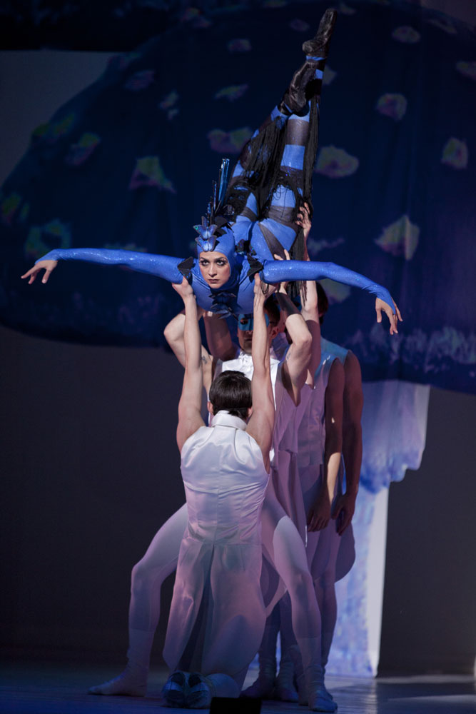 Sona Kharatian (Caterpillar) in The Washington Ballet's Alice (in Wonderland). © Brianne Bland. (Click image for larger version)