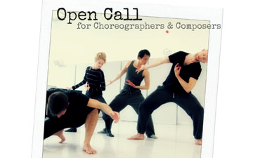 Open Call for Choreographers and Composers poster graphic. © DanceEast.