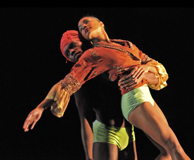 Otis-Cameron Carr and Antonette Dayrit in Mark Baldwin's What Wild Ecstasy. © Dave Morgan. (Click image for larger version)