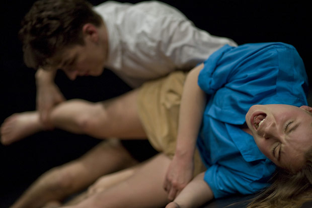 Salka Ardal Rosengren and Thibault Lac in Zombie Aporia. © Jean Luc Tanghe. (Click image for larger version)
