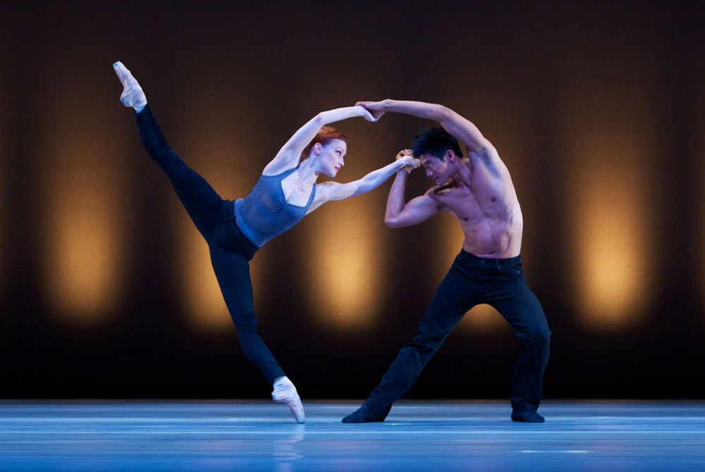 Erin Yarbrough-Stewart and Jonathan Mangosing in Swipe. © Keith Sutter. (Click image for larger version)