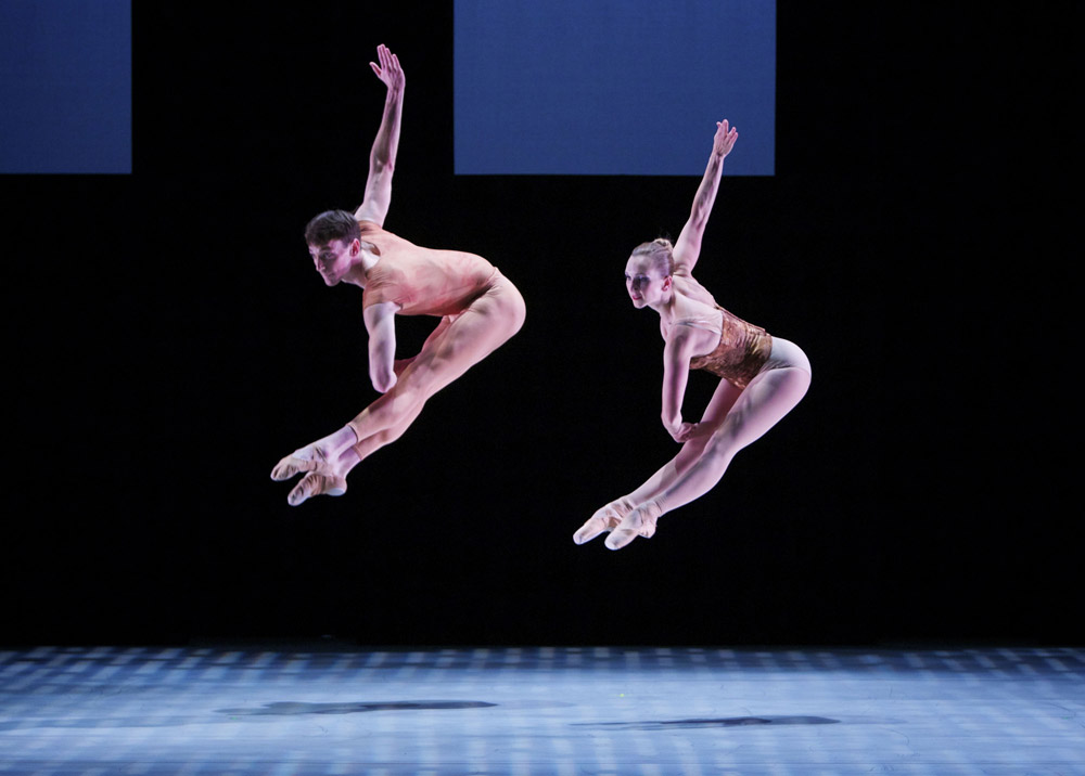 Jonathan Dummar and Robin Cornwell in Through. © Keith Sutter. (Click image for larger version)