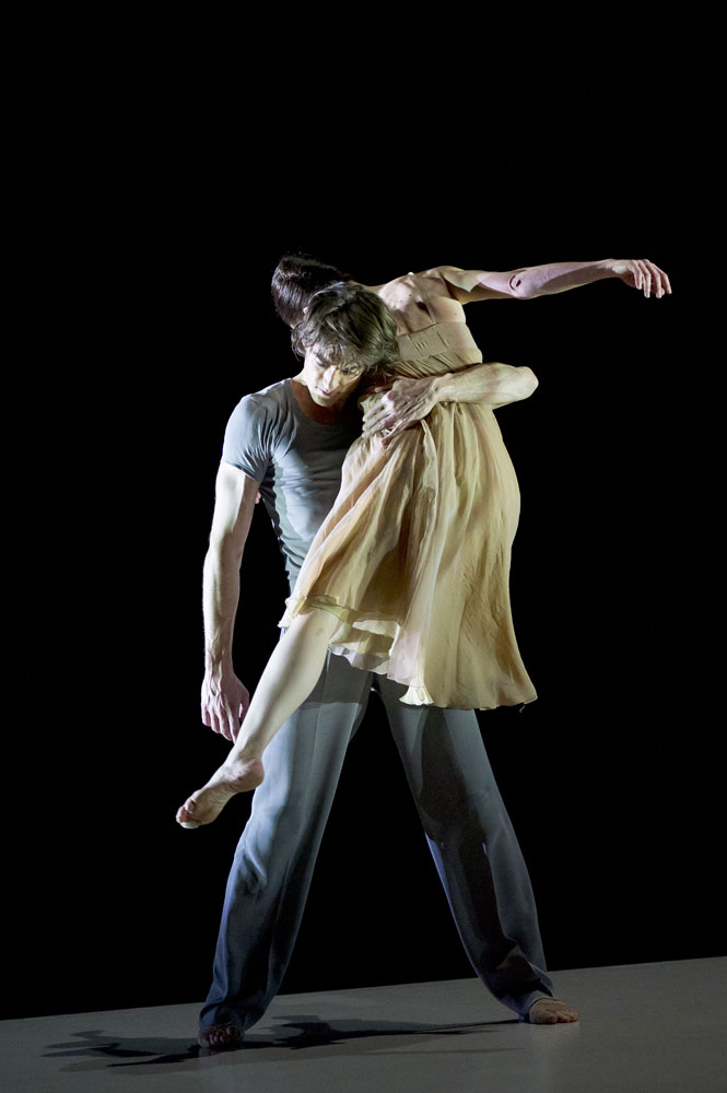 Aurelie Dupont and Herve Moreau in Sasha Waltz's Romeo and Juliet. © Laurent Philippe. (Click image for larger version)