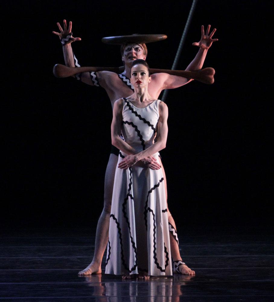 Diana Vishneva and Ilya Kuznetsov in Errand into the Maze. © Natasha Razina. (Click image for larger version)