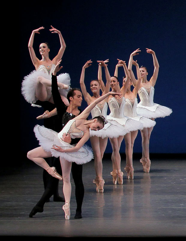 New York City Ballet in Symphony in C. © Paul Kolnik. (Click image for larger version)