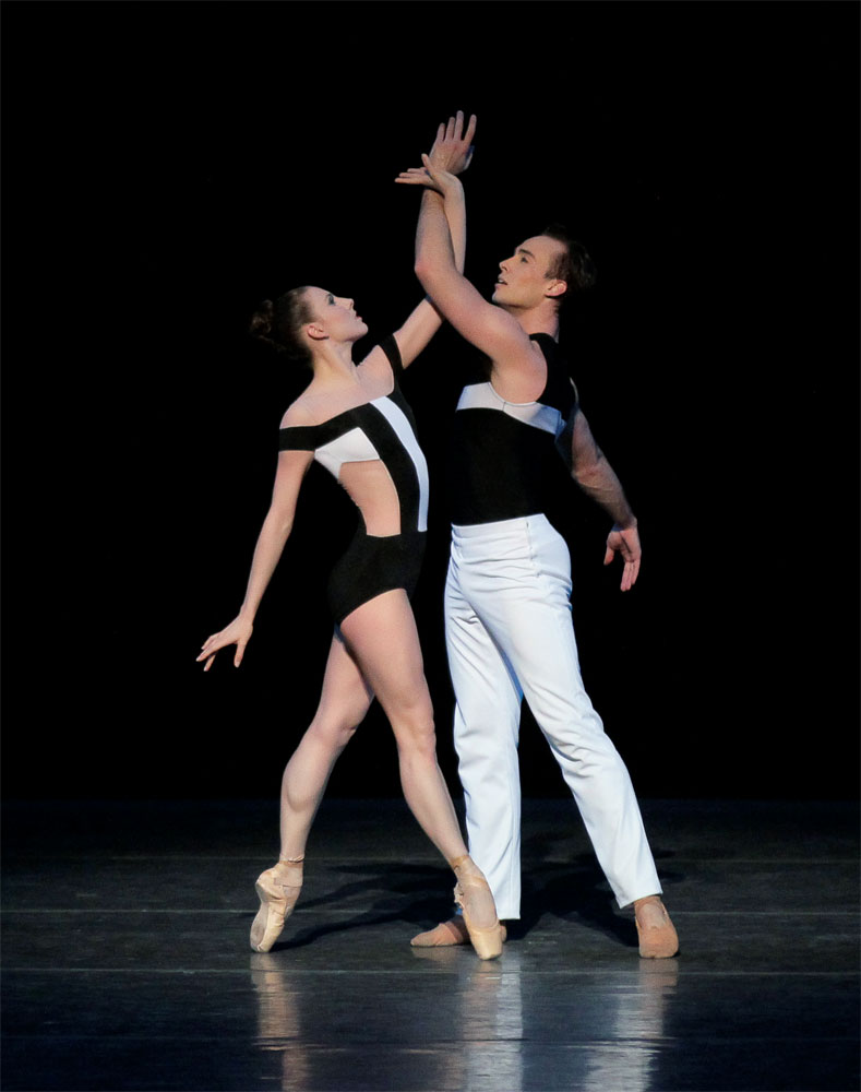 Tyler Angle and Tiler Peck in Two Hearts. © Paul Kolnik. (Click image for larger version)