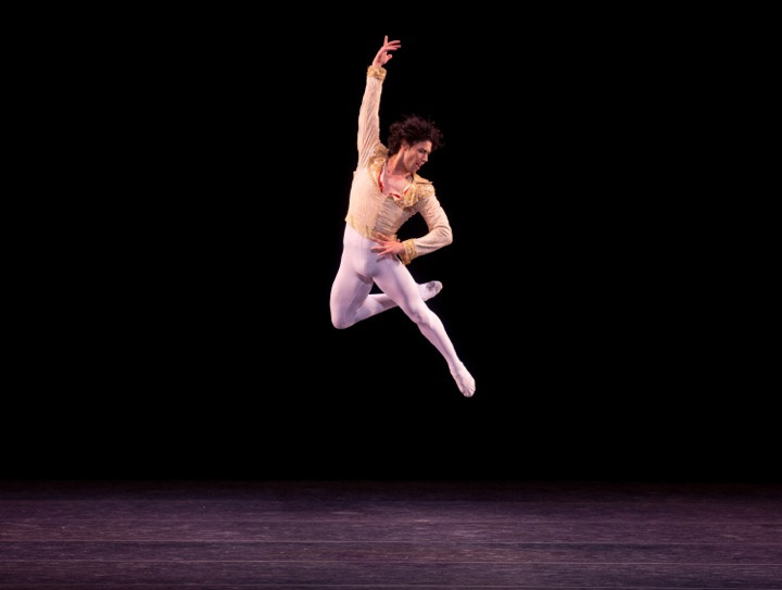 Herman Cornejo's beautiful jump - here at the ABT Gala in Don Quixote. © Rosalie O'Connor.