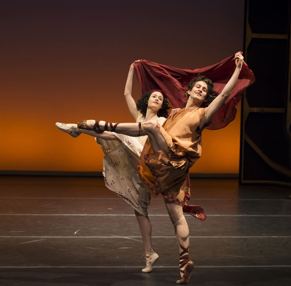 Emma Maguire and Valentino Zucchetti in Bacchanale. © Bill Cooper. (Click image for larger version)