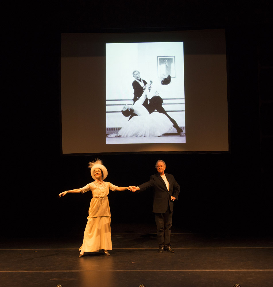 Ursula Hageli and Anthony Dowell (with Ashton rehearsing Marguerite and Armand behind). © Bill Cooper. (Click image for larger version)