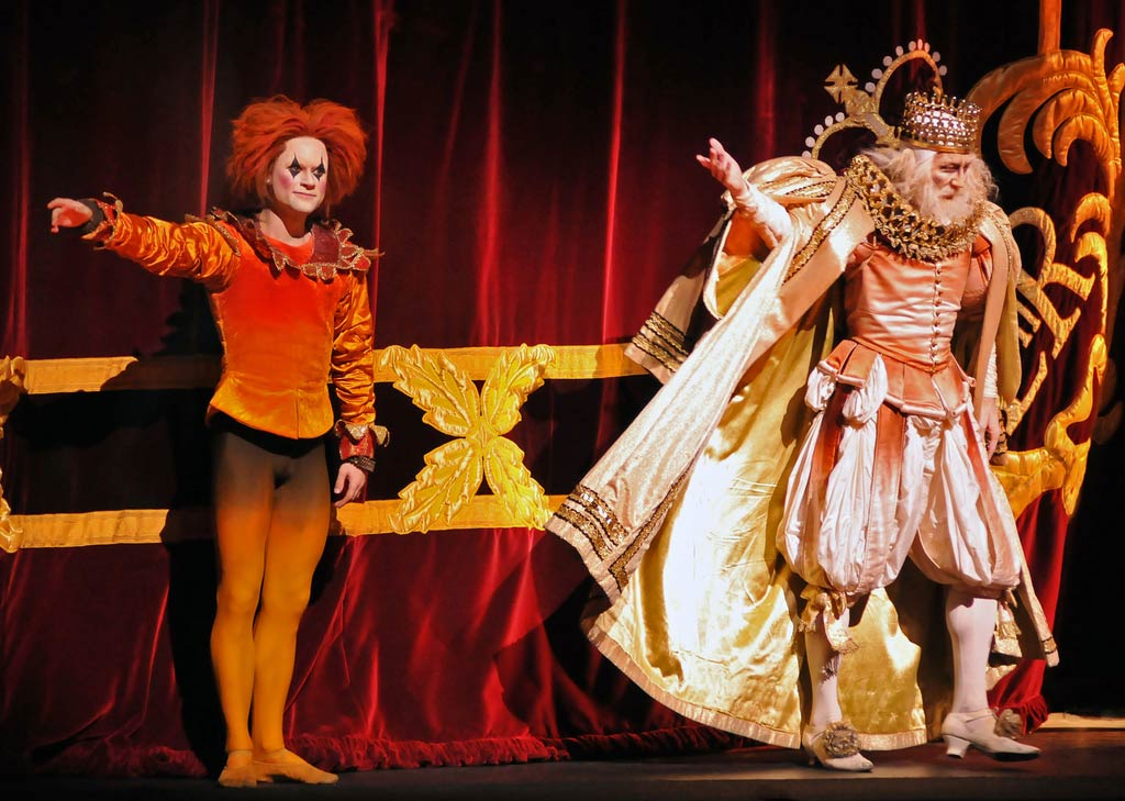 The Fool and the Emperor (Alexander Campbell and Alastair Marriott) at first night curtain calls. © Dave Morgan. (Click image for larger version)