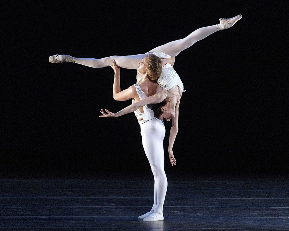 Veronika Part and David Hallberg in Apollo.  © The George Balanchine Trust, Gene Schiavone. (Click image for larger version)