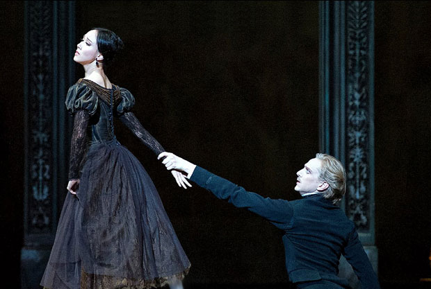 Hee Seo and David Hallberg in Onegin.  Photo: Gene Schiavone. (Click image for larger version)