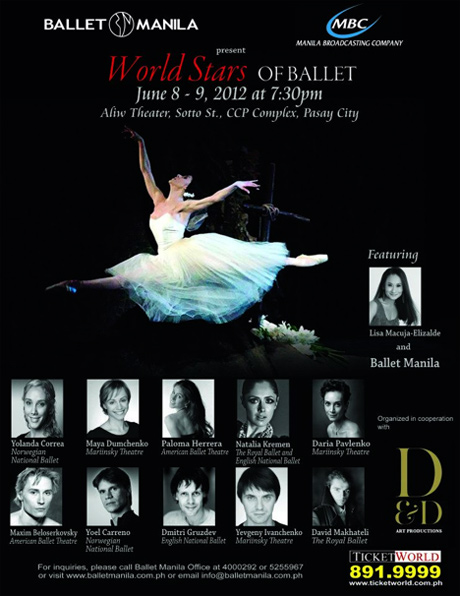 World Stars of Ballet poster. © Ballet Manila