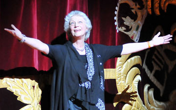Monica Mason after the last Royal Ballet performance of the 2012/13 season (20 July 2012) and her retirement as Artistic Director of the company she has worked in for over 50 years.© Dave Morgan. (Click image for larger version)