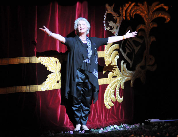Monica Mason after the last Royal Ballet performance of the 2012/13 season (20 July 2012) and her retirement as Artistic Director of the company she has worked in for over 50 years.<br />© Dave Morgan. (Click image for larger version)