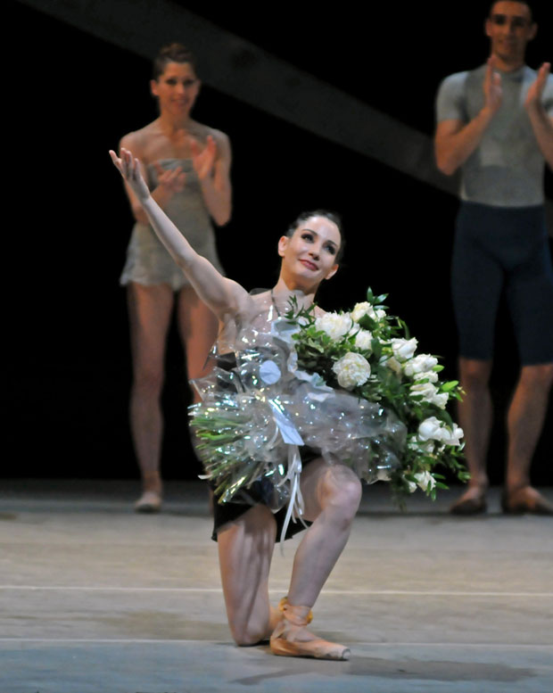 Tamara Rojo after her last performance with the Royal Ballet before she becomes Artistic Director with English National Ballet. © Dave Morgan. (Click image for larger version)