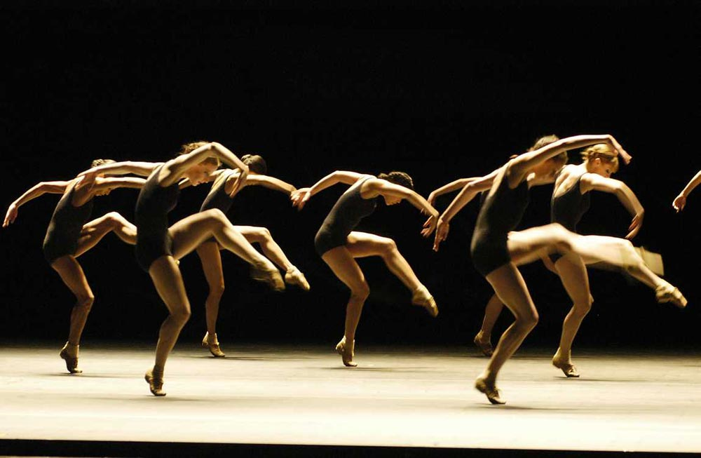 Boston Ballet in Jiří Kylián's <I>Falling Angels</I>.<br /> © Eric Antoniou. (Click image for larger version)