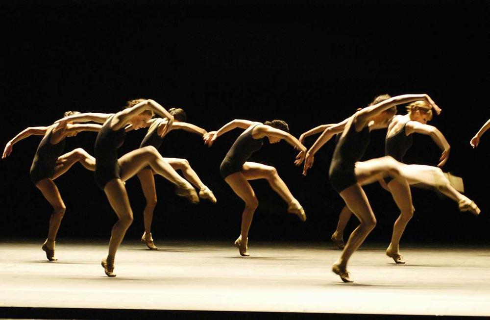 Boston Ballet in Jiří Kylián's <I>Falling Angels</I>.<br /> © Eric Antoniou. (Click image for larger version)