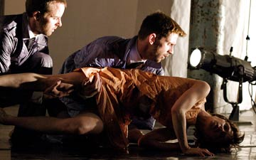 Malgorzata Dzierzion, Renaud Wiser and Joe Walkling in Casting Traces.© Elliott Franks. (Click image for larger version)