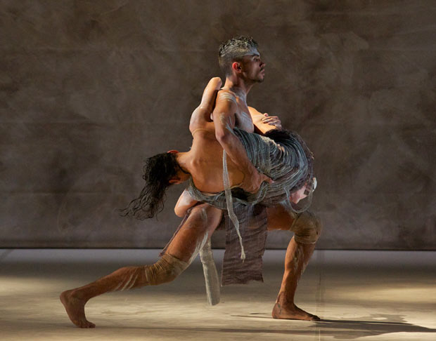 Deborah Brown and Leonard Mickelo in <I>Terrain</I>.<br />© Greg Barrett. (Click image for larger version)