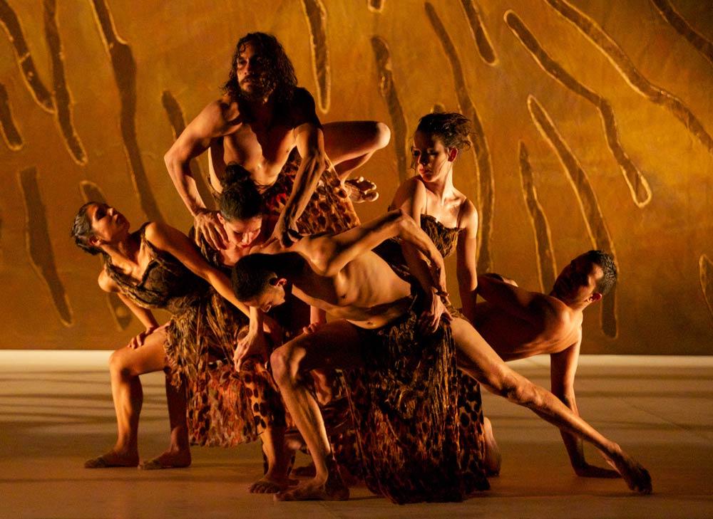 Bangarra Dance Theatre in <I>Terrain</I>.<br />© Greg Barrett. (Click image for larger version)
