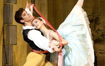Myriam Ould-Braham and Josua Hoffalt in La Fille mal Gardée.© Julien Benhamou. (Click image for larger version)
