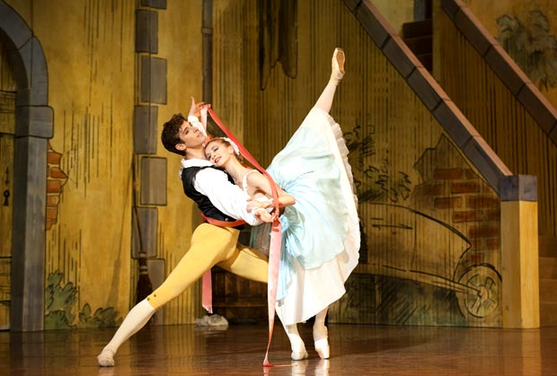 Myriam Ould-Braham and Josua Hoffalt in <I>La Fille mal Gardée</I>.<br />© Julien Benhamou. (Click image for larger version)