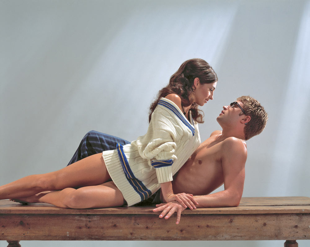 Belinda Lee Chapman and Richard Winsor in Play Without Words.© Sheila Burnett. (Click image for larger version)