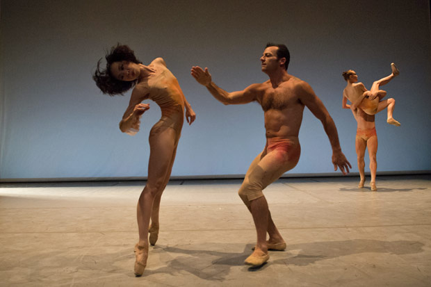 Peng Yu-Chen and Brandon Freeman in Gina Patteron's <I>The Inconstant</I>.<br />© David deSilva. (Click image for larger version)